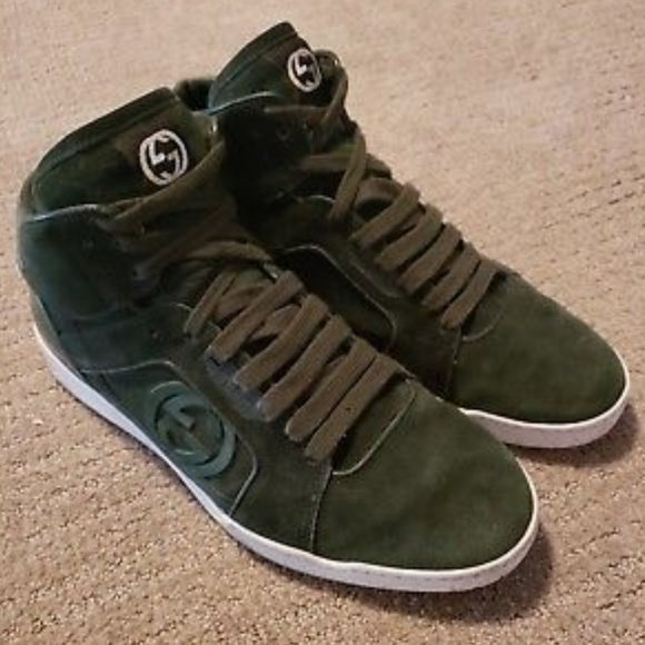 de8dda43f Gucci Shoes | Men Suede Sneaker Size 75 Us 295322 Verde | Poshmark
